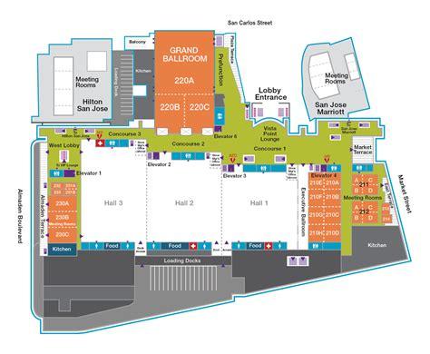 san jose convention center floor map cgl egl search