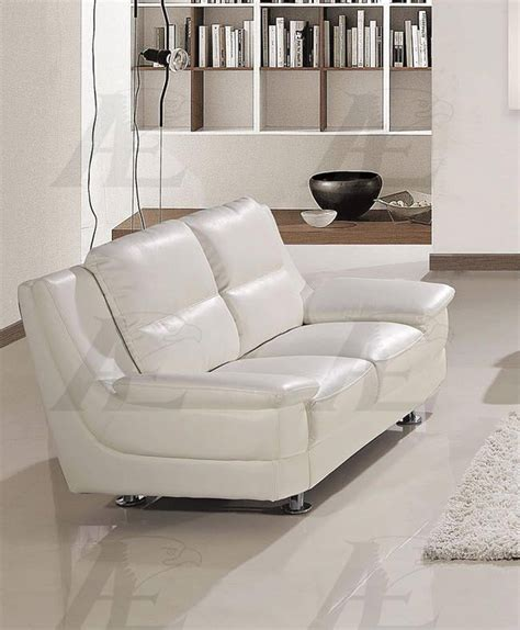 Faux Leather Sofa And Loveseat by American Eagle Furniture Ae768 Sw Snow White Faux Leather