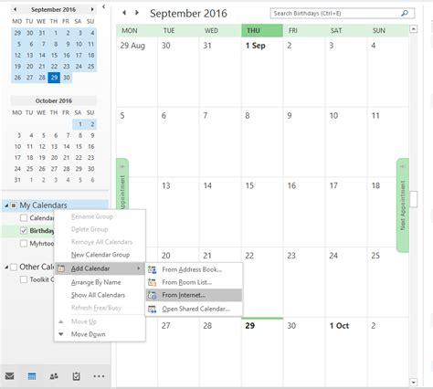 Add Calendar To Outlook 2013 Add Calendar To Microsoft Outlook 2013 2016