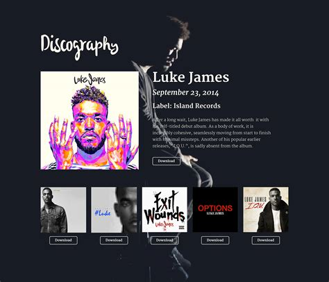 Luke James Epk Sle On Behance Band Press Kit Template