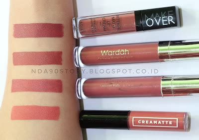 Wardah Exclusive Matte Lipcream Shade 013 Fruit Punch review satu pabrikan lip wardah make