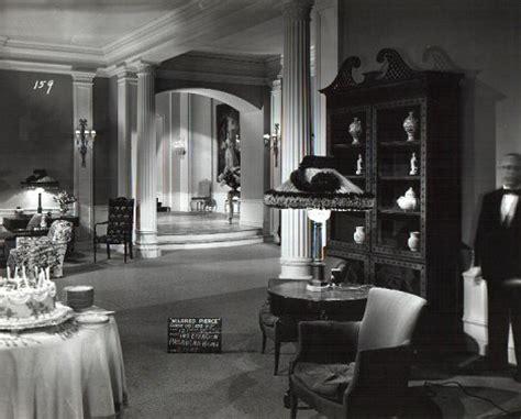 White Home Interior joan crawford mildred pierce sets