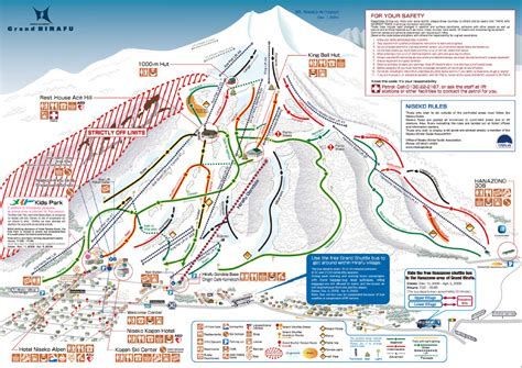 map of grand grand hirafu ski map free