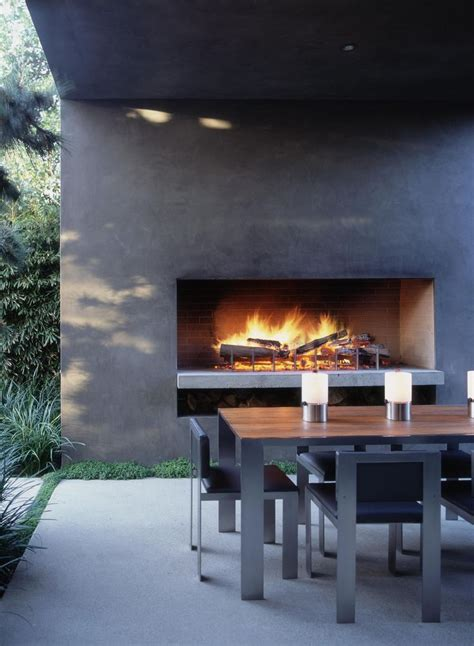 outdoor fireplace contemporary landscaping pinterest
