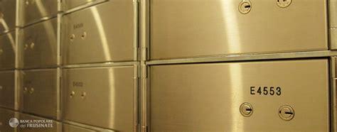 cassette di sicurezza banca utile banca popolare frusinate