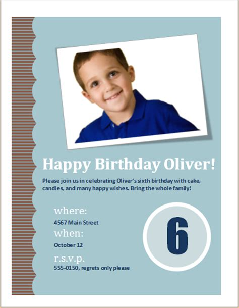 birthday invitation flyer template birthday invitation flyer editable ms word template