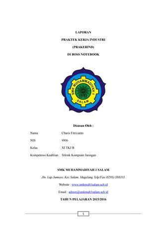 contoh laporan prakerin tkj teknik komputer jaringan