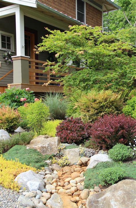 dazzling rock garden mode seattle traditional landscape