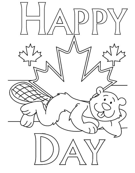 Canada Day Netart Canada Coloring Pages