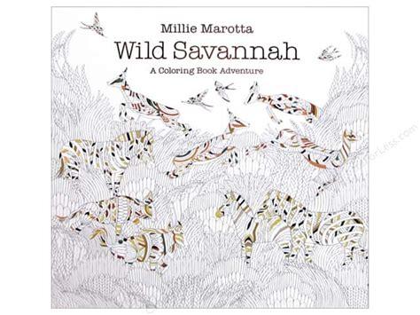 millie marottas wild savannah 1849943796 millie marotta s wild savannah coloring book createforless