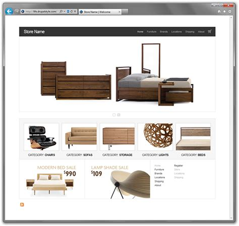 drupal themes online store life ecommerce a free clean drupal 6 ubercart theme