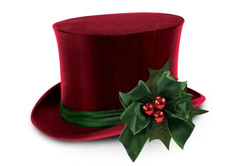 christmas top hat clipart