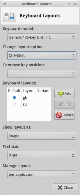keyboard layout xfce how to configure keyboard layouts in xfce cinnamon mate