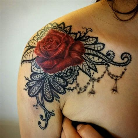 image gallery lace rose tattoo