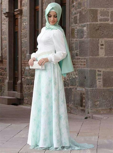 Gamis Wanita Warna Putih indahnya model baju gamis muslim brokat terbaru 2015
