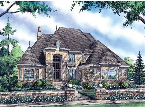 eplans chateau house plan two story portico commands
