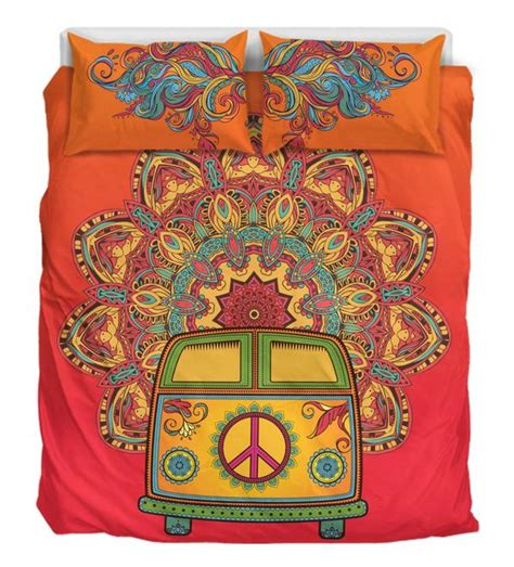 hippie van bed dream in my hippie van bedding duvet cover bed set