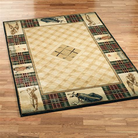 Golf Area Rug with Classic Open Golf Area Rugs