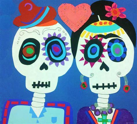 Dia De Los Muertos Essay by Dia De Los Muertos Frida Y Diego Paper Collage Pearmama
