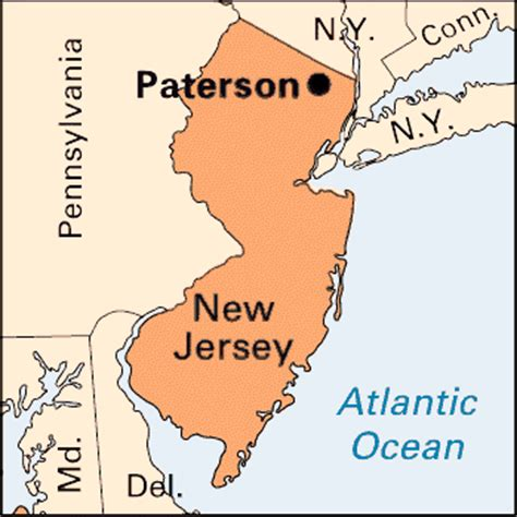 map of paterson new jersey paterson location encyclopedia children s