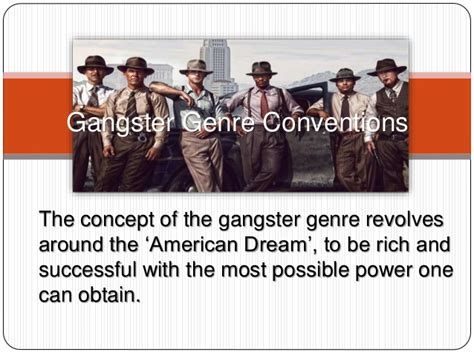gangster film genre conventions gangster genre conventions