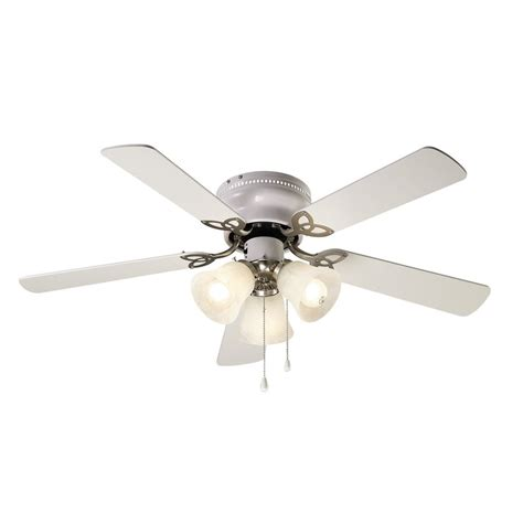 Nickel Ceiling Fans With Lights by Shop Canarm 42 In Brushed Nickel Indoor Flush Mount