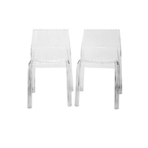 Clear Chair by Wholesale Interiors Minotti Transparent Clear Acrylic Chair Set Of 2 Pc 511 Clear