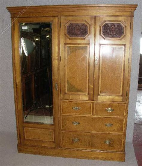 solid walnut compactum wardrobe maple co antiques atlas