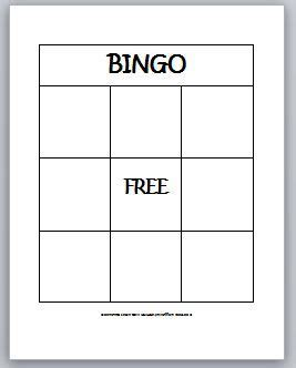 blank bingo card template 3x3 7 best bingo template images on bingo template