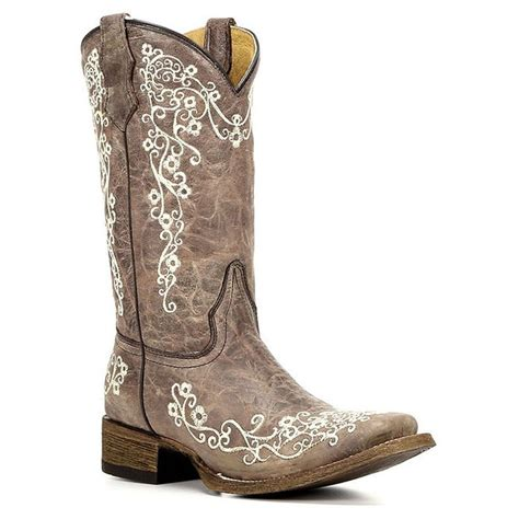 youth boots corral youth bone embroidered square toe