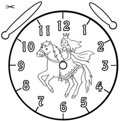 Kostenlose Vorlage Uhr Kostenlose Malvorlage Uhrzeit Lernen Die Uhr Lernen Ausmalbild Prinzessin Und Pferd Zum Ausmalen