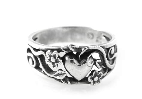 printable ring sizer james avery retired james avery flower heart ring size 4 5 sterling
