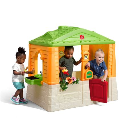 neat tidy cottage active brights kids playhouse step2