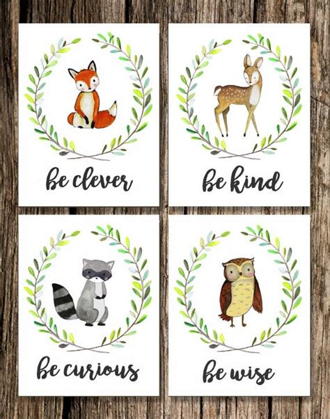 Woodland Animals Nursery Decor Best 25 Woodland Animal Nursery Ideas On Pinterest