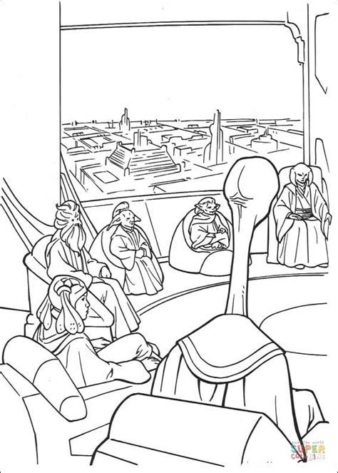 coloring pages star wars jedi jedi high council coloring page free printable coloring