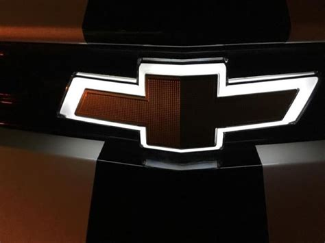 Light Up Chevy Emblem new light up front emblem feature for the 2016 chevrolet