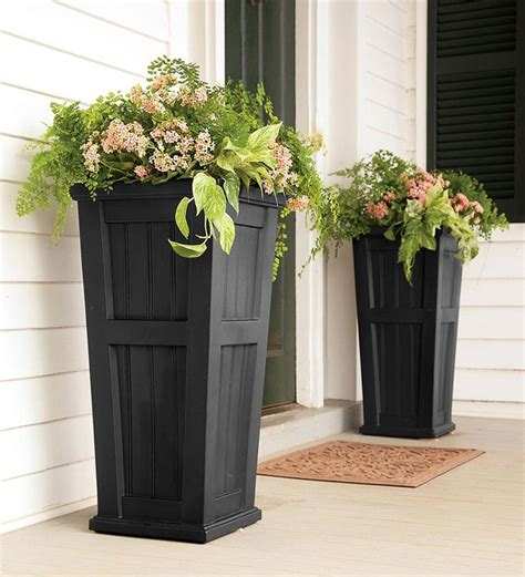 planters for front porch front porch planters garden ideas