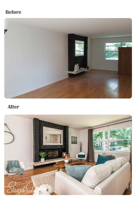 Staging A Living Room Before And After Before And After Staged For Upsell
