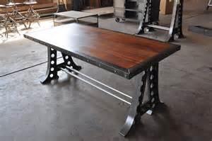vintage industrial desk vintage industrial desk machine base dining table ebay