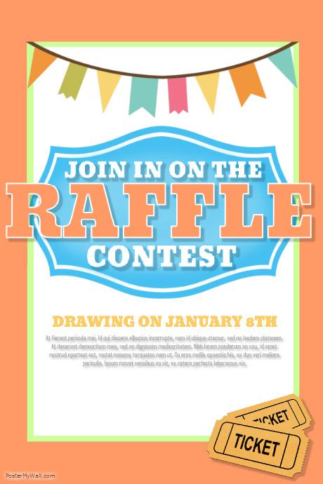 Raffle Template Postermywall 50 50 Raffle Flyer Template