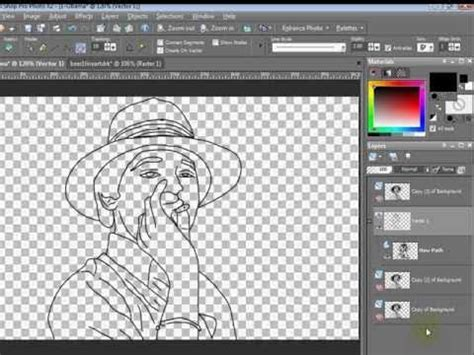 tutorial online shop paint shop pro tutorial how to turn a photo to line art
