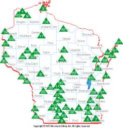 Wi State Parks Map by Wisconsin Attractions State Parks Forests And Recreation