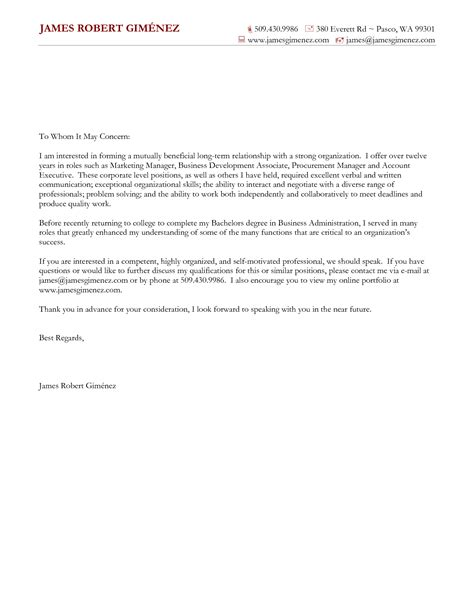 general cover letter for resume sle general cover letters jantaraj
