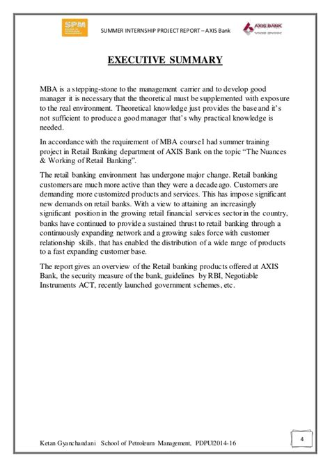 Mba Retail Banking by Axis Bank Retail Banking