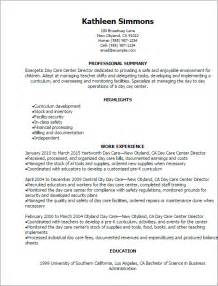 Child Care Supervisor by Professional Day Care Center Director Resume Templates To Showcase Your Talent Myperfectresume