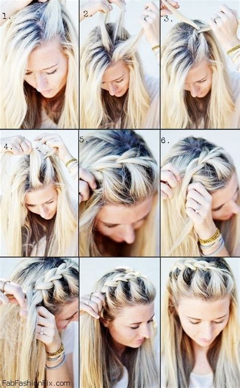 french hairstyle by own step by step easy way one sided french braid hairstyle tutorial fab fashion fix