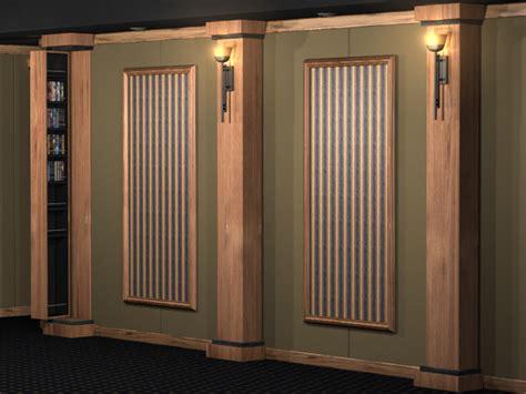 home columns veneered wood home theater column