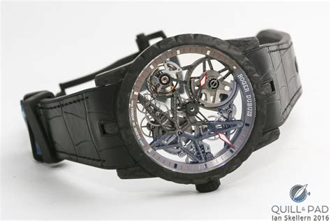 Roger Dubuis Horloger Skeleton Black carbon cases a lesson in differences with roger dubuis black velvet paraiba and excalibur
