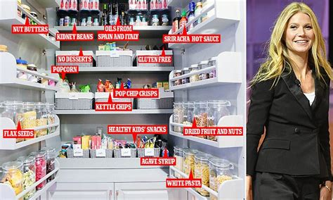 gwyneth paltrow pantry inside gwyneth paltrow s immaculately organised pantry daily mail