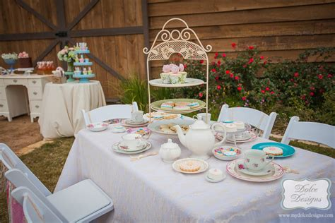 shabby chic bridal tea party dolce designs